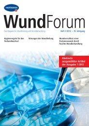 Abstracts ausgewählter Artikel der Ausgabe 1-2012 - Hartmann ...