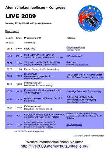 LIVE 2009 - Atemschutzunfaelle.eu