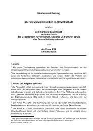 Mustervereinbarung - Amt für Umwelt und Energie - Kanton Basel ...
