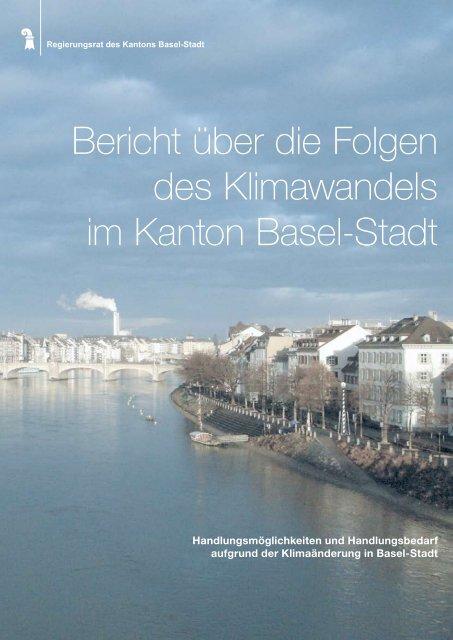 Bericht über die Folgen des Klimawandels im Kanton Basel-Stadt