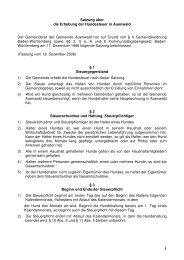 Satzung über die Erhebung der Hundesteuer in Auenwald Der ...