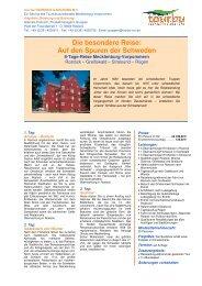 Infos - Tourismusverband Mecklenburg - Vorpommern