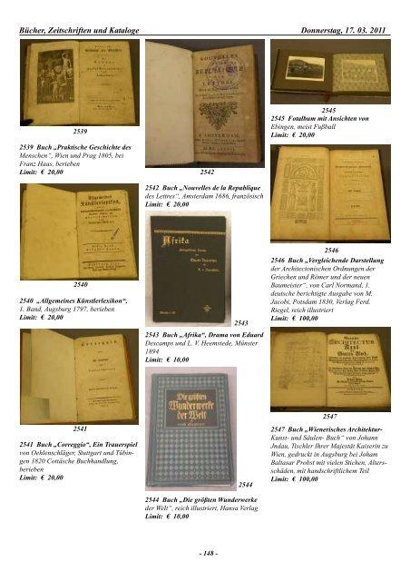 Bücher, Zeitschriften und Kataloge Donnerstag, 17. 03. 2011