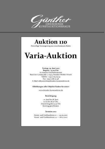 Varia-Auktion - Dresden-kunstauktion.de