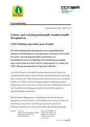Lebens- und Arbeitsgemeinschaft Auenhof schafft Perspektiven VINCI