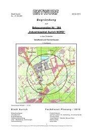 """Begründung Bebauungsplan Nr.: 284 """"Industriegebiet ... - Stadt Aurich"""
