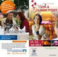 Programmheft zum 9. Auricher Wein- & Gourmetfest. - Stadt Aurich