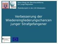 Folien JVA-Projekt (18 Folien) - Ausbildungsvorbereitung