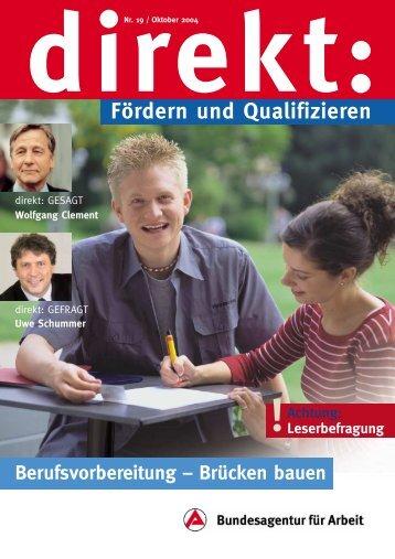 """""""Berufsvorbereitung - Brücken bauen"""", direkt-Heft Nr. 19"""