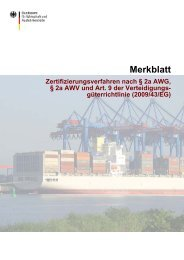 Merkblatt zum Zertifizierungsverfahren - Ausfuhrkontrolle