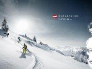 Ein Winter voller Lebensfreude 2013/14 MAFO - Österreich Werbung