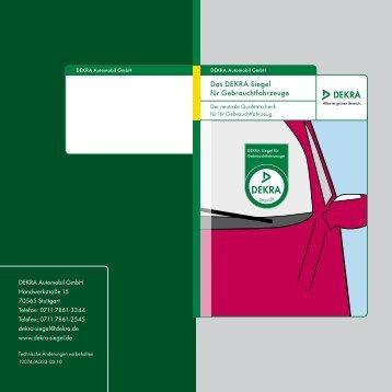 Das DEKRA Siegel für Gebrauchtfahrzeuge