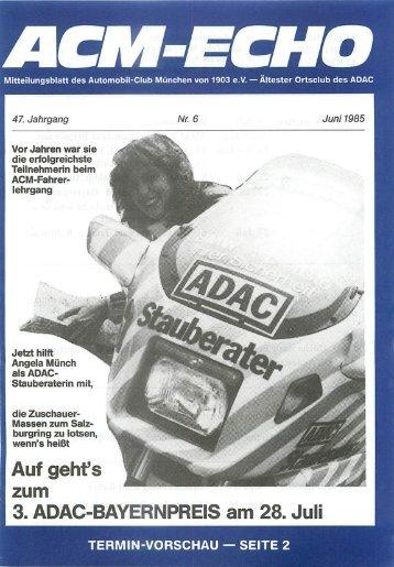 echo-1985-06 - ACM Automobilclub München von 1903 e. V.
