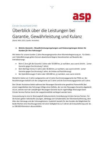 Garantieumfrage 2013: Citroën - Auto Service Praxis