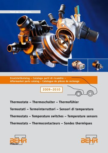 Thermostate – Thermoschalter – Thermofühler ... - Auto Total