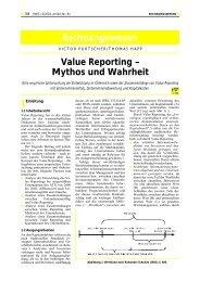 Value Reporting - Mythos und Wahrheit