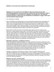 Mediation und ein paar andere demokratische ... - AvenirSocial