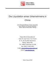 Die Liquidation eines Unternehmens in China