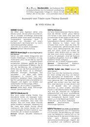 Auswahl von Titeln zum Thema Gewalt VHS-Video - AV-Medienstelle