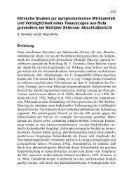 Klinische Studien zur symptomatischen Wirksamkeit und ...
