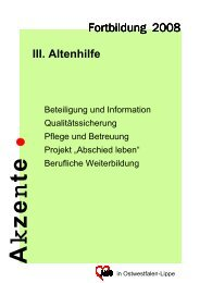 Akzente 2008 - III. Altenhilfe - Awo