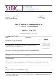Antrag auf Zulassung zur Steuerberaterprüfung 2013