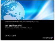 Basisinformationen Stellenmarkt 2013 - Axel Springer MediaPilot
