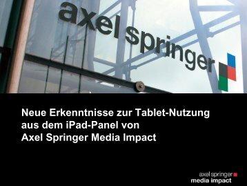 Neue Erkenntnisse zur iPad-Nutzung aus dem Media Impact Panel