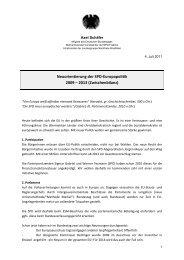 Neuorientierung der SPD-Europapolitik 2009 – 2013 ... - Axel Schäfer