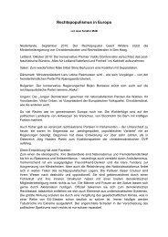 Rechtspopulismus in Europa - Axel Schäfer