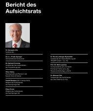 Bericht des Aufsichtsrats - Axel Springer AG