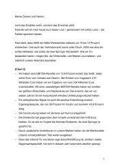 Rede Dr. Mathias Döpfner/Lothar Lanz - Axel Springer AG