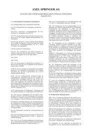 Einkaufsbedingungen für Bauleistungen - Axel Springer AG