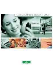 GESCHÄFTSBERICHT 2000 - Axel Springer AG
