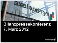 Präsentation von Dr. Mathias Döpfner und Lothar ... - Axel Springer AG
