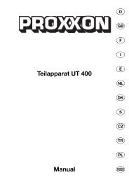 Teilapparat UT 400 Manual