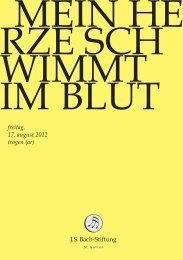 J.S. Bach-Stiftung, St. Gallen: Cantata BWV 199 ... - Bach Cantatas