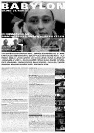 SIMONE FROST: UNSER KURZES LEBEN - Babylon