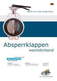 Absperrklappen - Bachofen AG