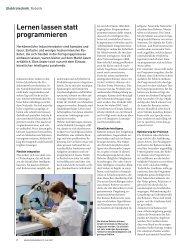Lernen lassen statt programmieren - Bachofen AG