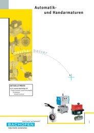 Automatik- und Handarmaturen - Bachofen AG