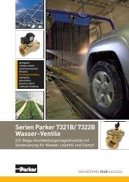 Serien Parker 7321B/ 7322B Wasser-Ventile - Bachofen AG