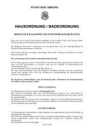 Haus- und Badeordnung - Stadt Bad Aibling