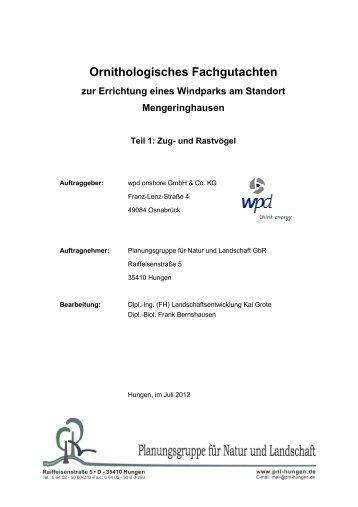 WEA_Mengeringhausen_Zugvogelgutachten - Bad Arolsen