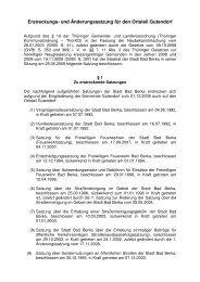 Erstreckungs- und Änderungssatzung für den Ortsteil Gutendorf