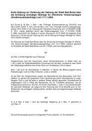 1. Änderungsatzung zur Straßenausbaubeitragssatzung
