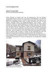 Das Haus des Afrikaforschers Nachtigal - Kurstadt Bad Berka