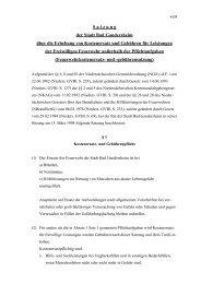 Satzung der Stadt Bad Gandersheim über die Erhebung von ...