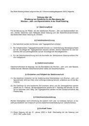 Satzung über die Erhebung von Gebühren für die Benutzung der ...