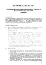 Gestaltungssatzung für den Stadtteil Bad Neuenahr